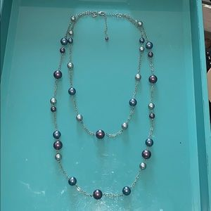 Double Strand long necklace 18""
